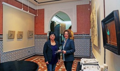 La concejala de Cultura, Yolanda Peña, ha visitado hoy la muestra y ha animado a los vecinos a disfrutar de la calidad de sus obras.
