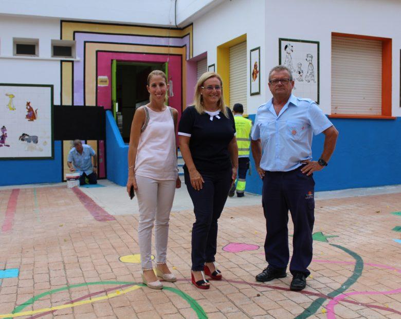 Díaz y Mula en el colegio El Tejar